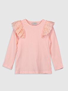 Kız Çocuk Fırfırlı Pamuklu Tişört