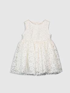 Kız Bebek Dantelli Elbise