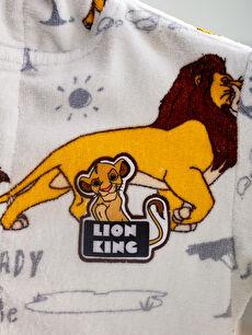 Erkek Çocuk Lion King Lisanslı Kapüşonlu Bornoz
