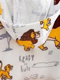 %100 Pamuk Erkek Çocuk Lion King Lisanslı Kapüşonlu Bornoz