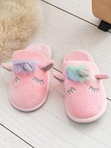 Tekstil malzemeleri  Kız Çocuk Unicorn Kadife Banyo Terliği