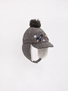 Gri Ponponlu Şapka 7K6903Z4 LC Waikiki