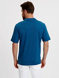 %100 Pamuk Standart Düz Kısa Kol Tişört Polo Polo Yaka Kısa Kollu Pike Tişört