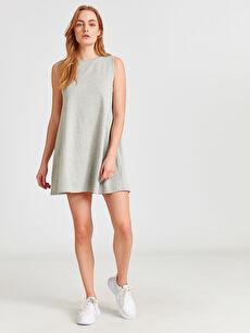 Pamuklu Dökümlü Elbise