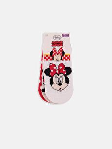 Minnie Mouse Baskılı Sneaker Çorap 3'lü