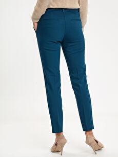 Kadın Bilek Boy Slim Kumaş Pantolon