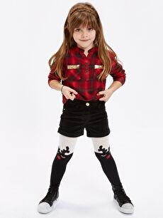 Kırmızı Kız Çocuk Flanel Ekose Gömlek 8W9810Z4 LC Waikiki