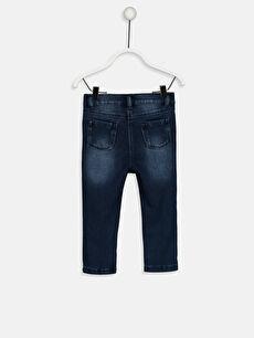 %57 Pamuk %35 Poliester %8 Elastane Normal Bel Standart Kız Bebek Skinny Jean Pantolon