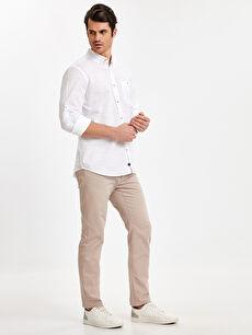 Erkek Regular Fit Uzun Kollu Poplin Gömlek