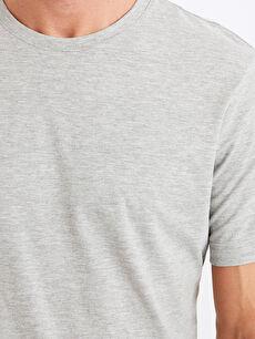 %46 Pamuk %54 Polyester Bisiklet Yaka Basic Tişört