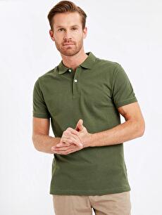 Polo Yaka Kısa Kollu Pike Basic Tişört