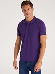 %100 Pamuk Standart Düz Kısa Kol Tişört Polo Polo Yaka Kısa Kollu Pike Basic Tişört