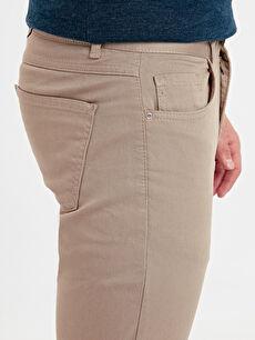 %97 Pamuk %3 Elastan Slim Fit Armürlü Pantolon