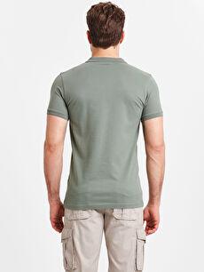 %94 Pamuk %6 Elastan Standart Düz Kısa Kol Tişört Polo Polo Yaka Kısa Kollu Pike Tişört