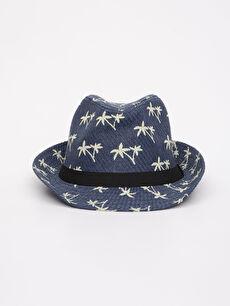 %100 Kağıt  Aile Koleksiyonu Baskılı Hasır Şapka