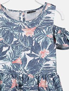 Kız Çocuk Kız Çocuk Omuzu Açık Pamuklu Elbise