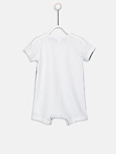 %100 Pamuk Tulum Erkek Bebek Baskılı Pamuklu Tulum