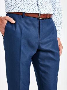 %65 Polyester %3 Elastan %32 Viskon Slim Fit Armürlü Pantolon