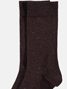 %53 Pamuk %28 Poliester %17 Poliamid %2 Elastane Günlük Orta Kalınlık Puantiye Dikişli Soket Çorap Soket Çorap