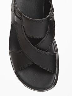 LC Waikiki Siyah Erkek Çapraz Bant Sandalet
