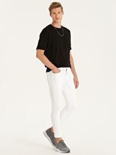 Beyaz Slim Fit Gabardin Pantolon 9SY444Z8 LC Waikiki