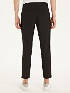%64 Polyester %2 Elastan %34 Viskon Slim Fit Poliviskon Bilek Boy Pantolon