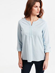 Fisto Detaylı Pamuklu Bluz