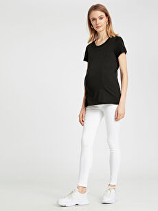 Beyaz Skinny Hamile Pantolon 9S5126Z8 LC Waikiki