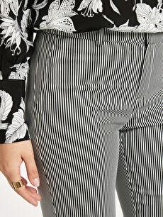 %54 Pamuk %42 Polyester %4 Elastan Bilek Boy Skinny Kumaş Pantolon