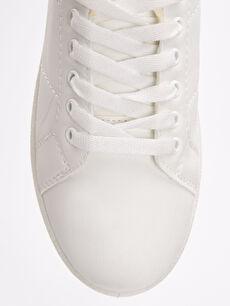 LC Waikiki Beyaz Kadın Bağcıklı Spor Ayakkabı