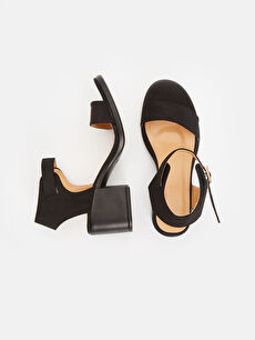 Tekstil malzemeleri Diğer malzeme (poliüretan)  Kadın Topuklu Sandalet