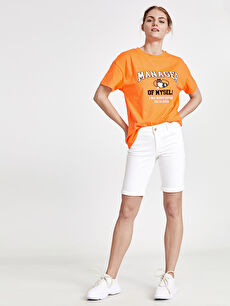 Beyaz Skinny Jean Şort 9SL888Z8 LC Waikiki