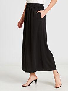Kadın Beli Lastikli Uzun Salaş Etek