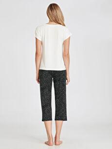 Kadın Baskılı Viskon Pijama Takımı