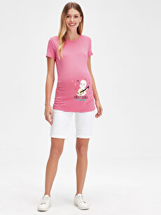 Beyaz Hamile Jean Bermuda 9SO530Z8 LC Waikiki