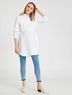 %98 Pamuk %2 Elastan Günlük Jean Orta Kalınlık Skinny Paça Detaylı Skinny Hamile Pantolon
