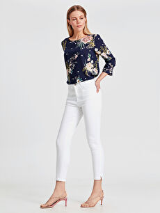 Beyaz Bilek Boy Super Slim Pantolon 9SP504Z8 LC Waikiki