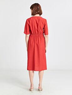 Kadın Kruvaze Yaka Kloş Elbise