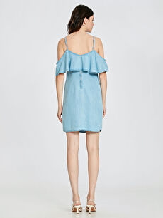Kadın Askılı Jean Elbise