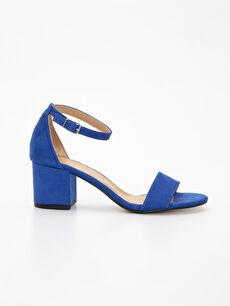Mavi Kadın Süet Görünümlü Topuklu Ayakkabı 9SS099Z8 LC Waikiki