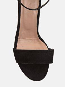 LC Waikiki Siyah Kadın Süet Görünümlü Topuklu Ayakkabı