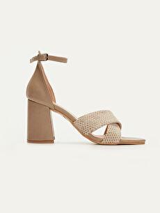 Bej Kadın Topuklu Sandalet 9SS125Z8 LC Waikiki