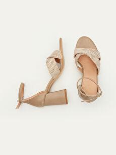 Diğer malzeme (poliüretan) Diğer malzeme (poliüretan)  Kadın Topuklu Sandalet