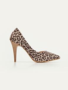 Çok Renkli Kadın Leopar Desenli Stiletto Ayakkabı 9SV785Z8 LC Waikiki