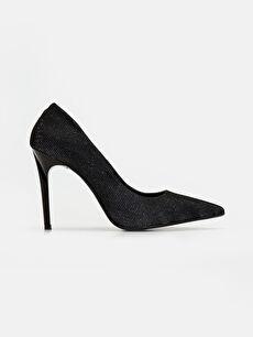 Gri Kadın Simli Stiletto Ayakkabı 9SY602Z8 LC Waikiki