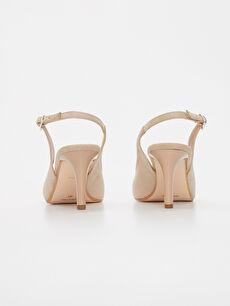 Kadın Yılan Derisi Görünümlü Topuklu Ayakkabı