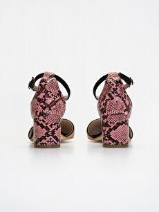 Kadın Yılan Derisi Görünümlü Stiletto Ayakkabı
