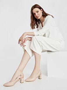 9SA510Z8 Kadın Sivri Burun Topuklu Ayakkabı
