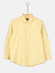 Sarı Erkek Çocuk Uzun Kollu Oxford Gömlek 9S0388Z4 LC Waikiki