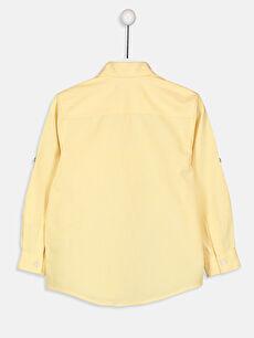 %75 Pamuk %25 Polyester Standart Uzun Kol Düz Erkek Çocuk Uzun Kollu Oxford Gömlek